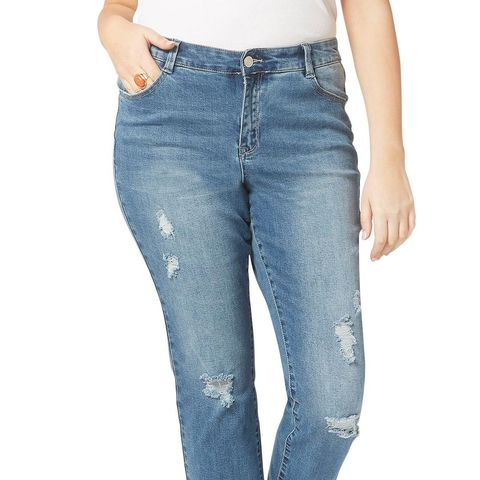 Destroyed Crop Jeans