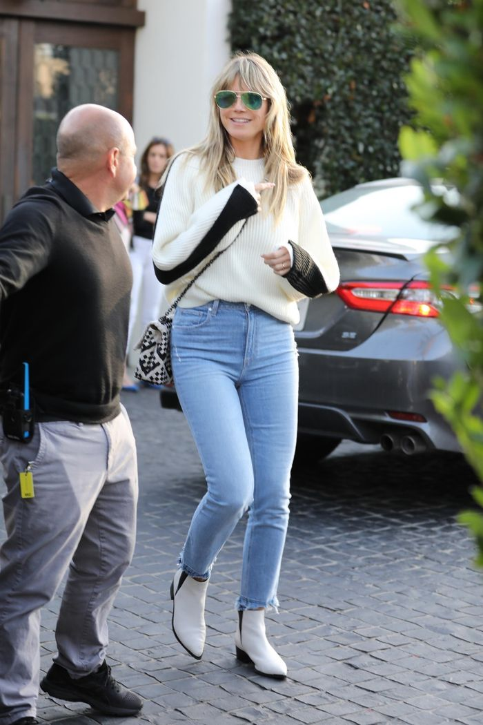 Heidi Klum's White Boots Are On Sale