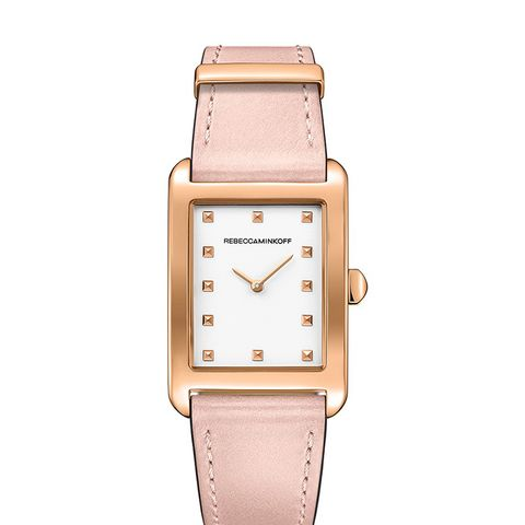 Moment Rose Gold Tone Leather Watch