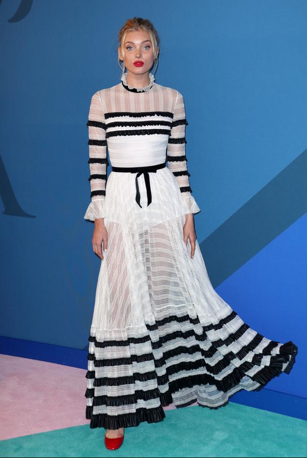 WHO: Elsa Hosk WEAR:Philosophy dress; Valentino shoes.