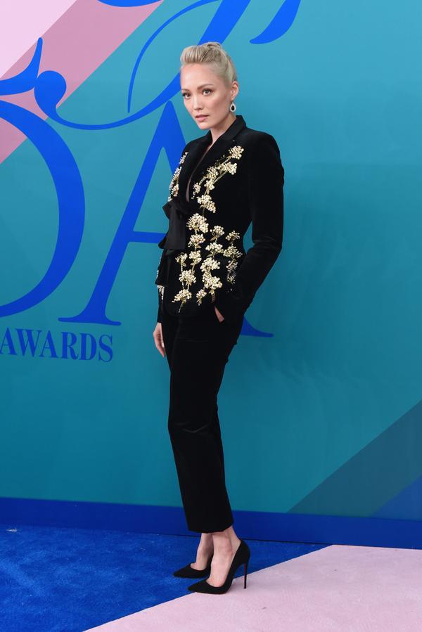 WHO: Pom Klementieff WEAR: Altuzarra suit.