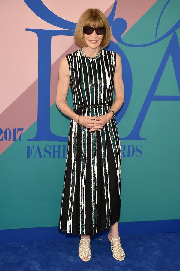 WHO: Anna Wintour WEAR: Proenza Schouler dress