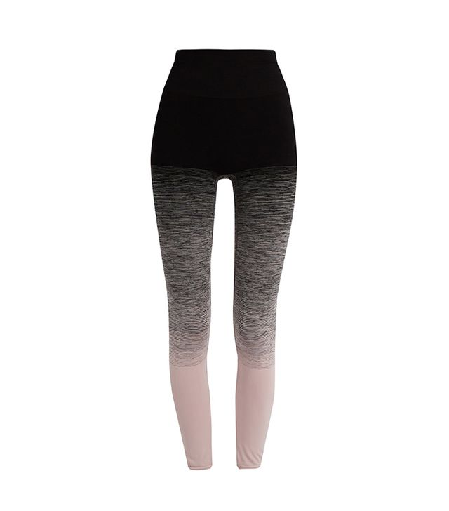 High-rise compression ombré performance leggings