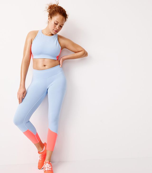 J.Crew Colorblock Premium Performance Capri Leggings