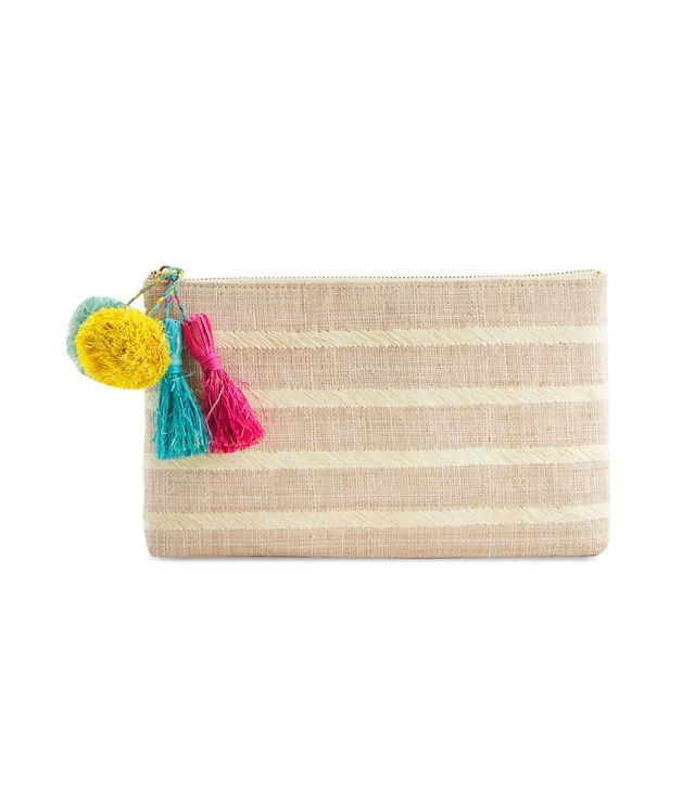 Vineyard Vines Kayu Woven Striped Clutch