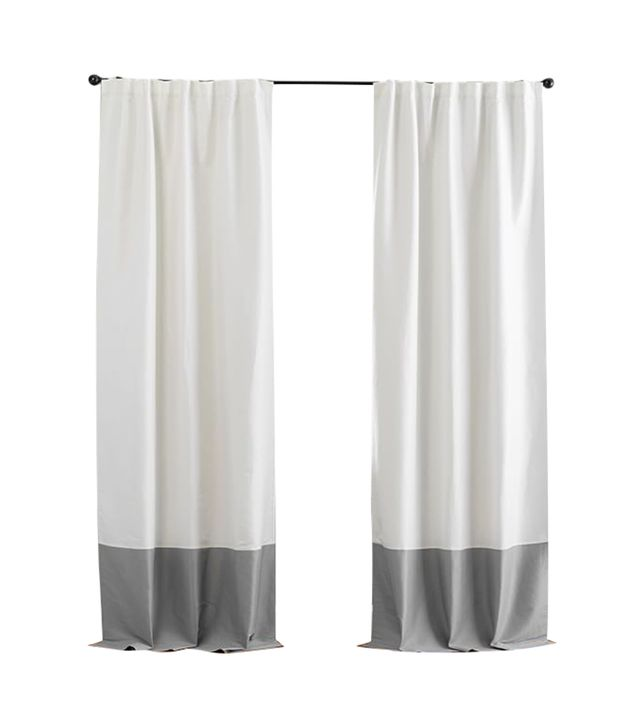 Pottery Barn Silk Linen Border Drape