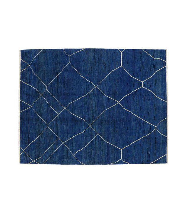 "Contemporary Blue Moroccan Style Area Rug - 10'4"" x 13'3"""
