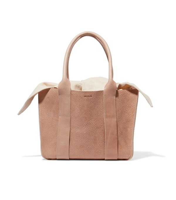 Gilbert Mini Textured-leather And Cotton-canvas Tote