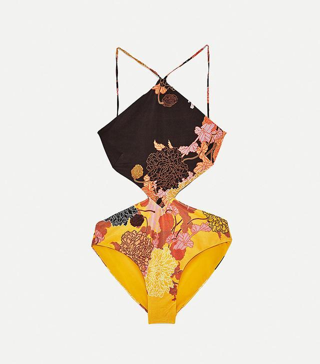 Zara Floral Print Swimsuit