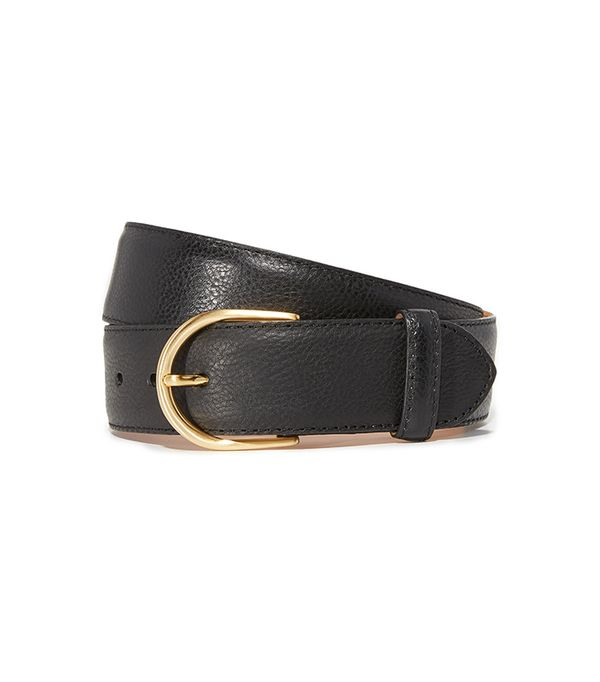 Pebbled Leather Basic Belt