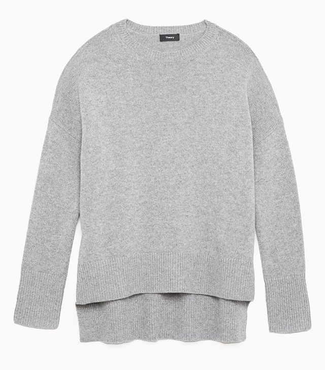 Theory Karenia Cashmere Slouchy Pullover in Husky
