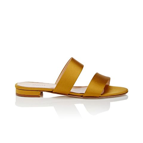 Women's Satin Double-Band Slide Sandals