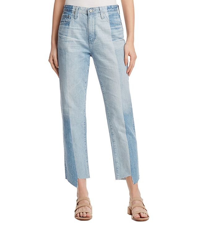 Phoebe Vintage High-Rise Tapered-Leg Jeans in 19 Years Splinter