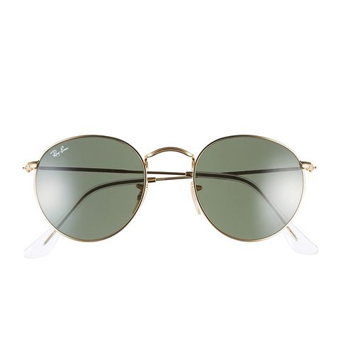 Icons 50Mm Round Metal Sunglasses