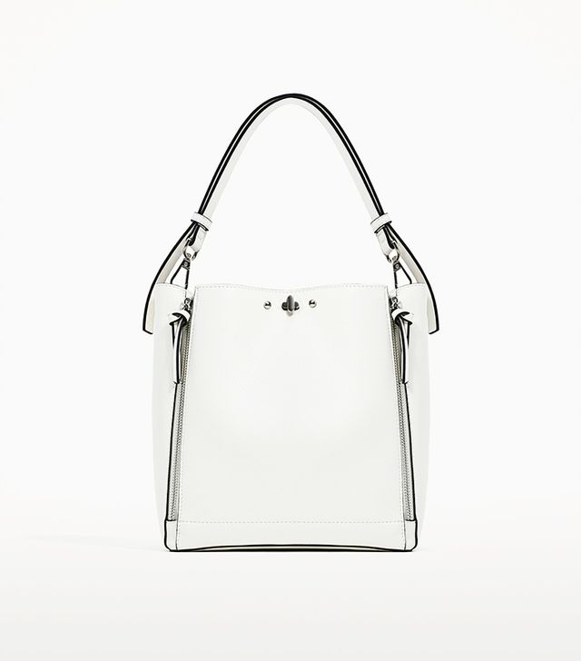 Zara Bucket Bag With Zips