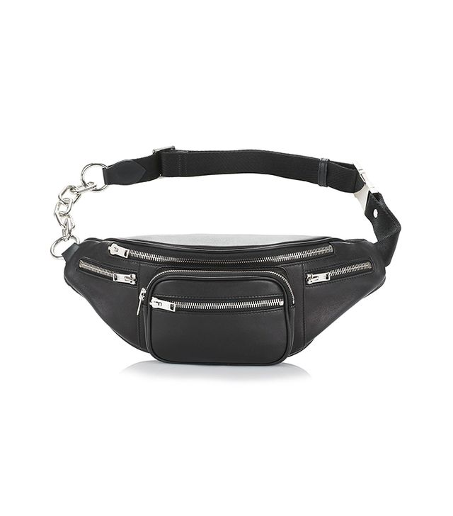 Alexander Wang Attica Fanny Pack in Washed Black with Rhodium