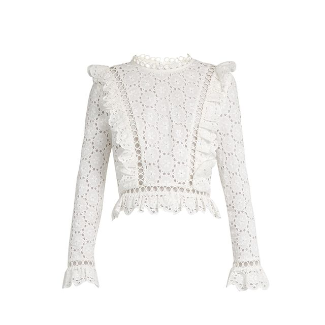 Divinity Wheel broderie-anglaise top