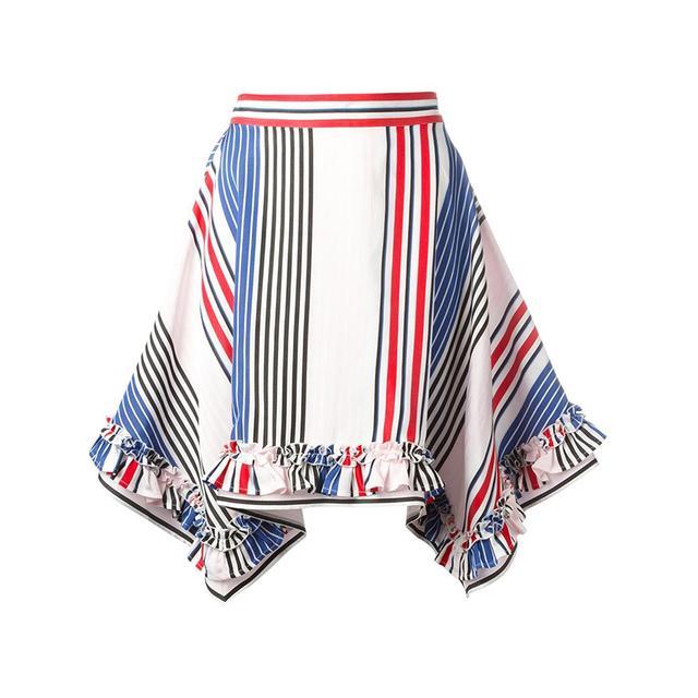 pointy striped skirt