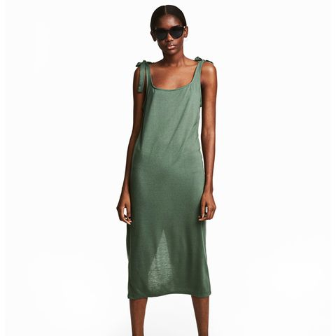 Calf Length Jersey Dress