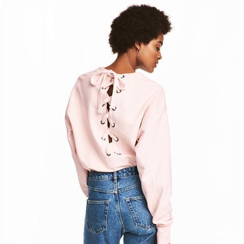 Sweatshirt With Lacing