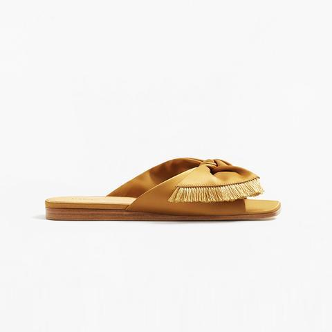 Bow Satin Sandals
