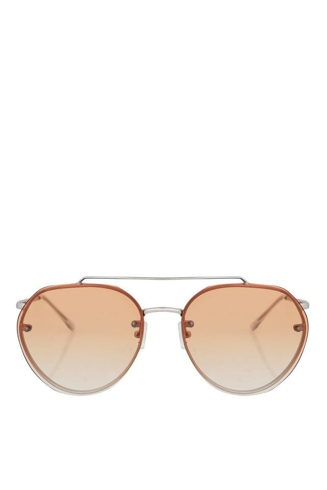 Small Rimless Aviator Sunglasses