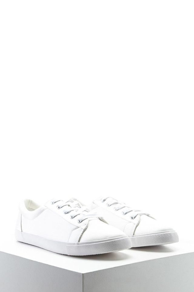 Satin Lace-Up Sneakers
