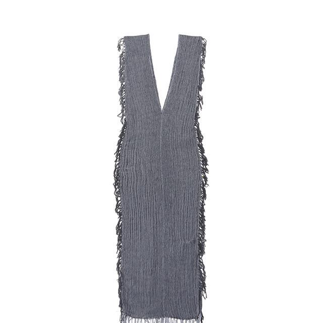 Tuunich Fringed Cotton-gauze Dress