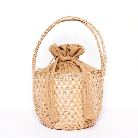 Soft Woven Basket Bag