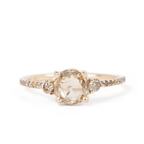 Champagne Diamond Solitaire Ring