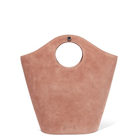 Market Small Leather And Suede Tote