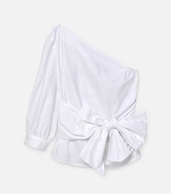 Bow Poplin Blouse