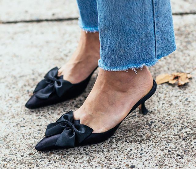 Day 16: Wear satin shoes with your favorite jeans.