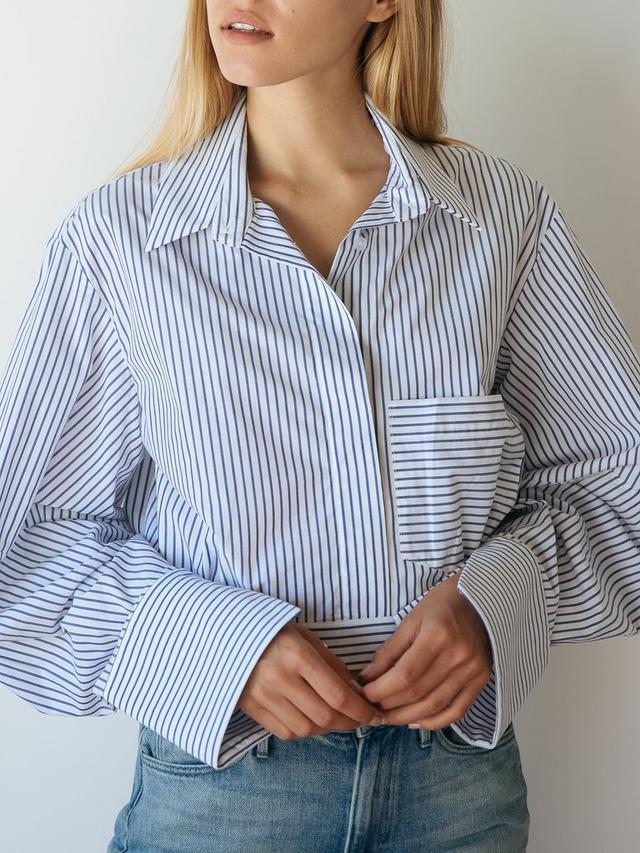 Michael Lo Sordo Crop Cocoon Painters Shirt
