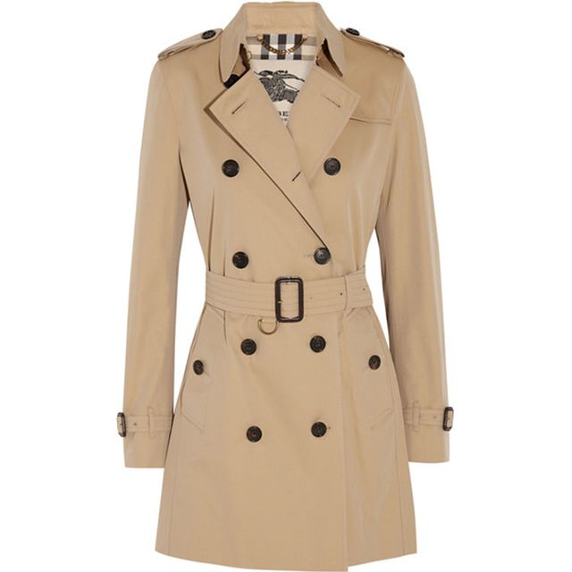 The Kensington Mid Cotton-gabardine Trench Coat