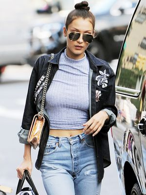 The Under-$100 Jeans Bella Hadid Always Wear With Sneakers