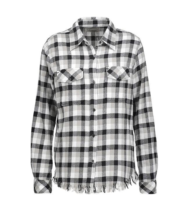 Current/Elliott Frayed Flannel Shirt