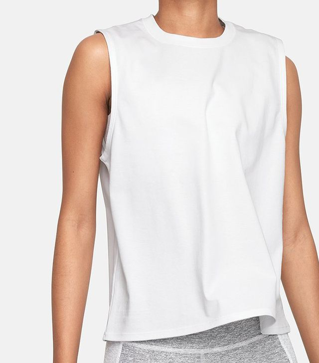 Outdoor Voices Cotton Muscle Tank in White