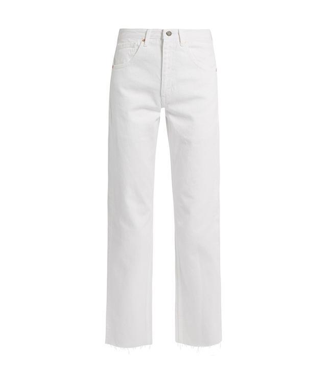RAEY Press white jeans