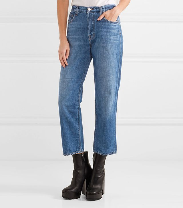 J Brand Ivy Cropped High-rise Jeans
