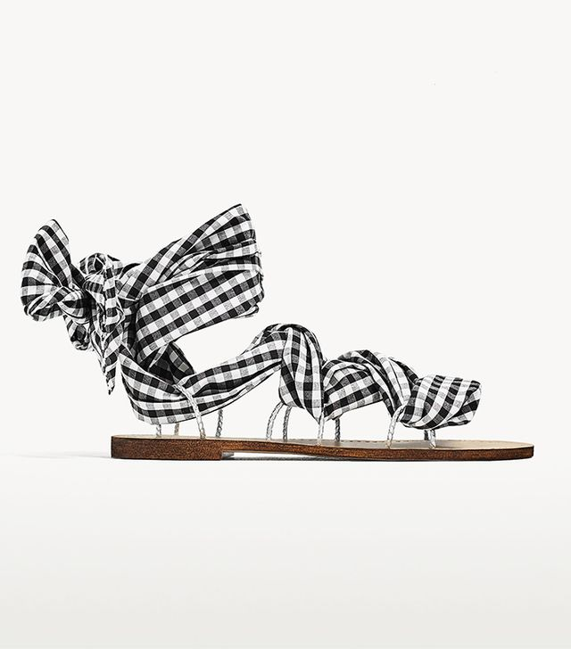 Zara Lace-Up Flat Sandals