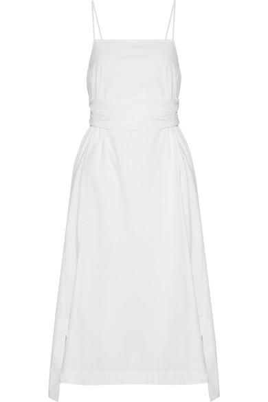 Oak Stretch-cotton Poplin Midi Dress