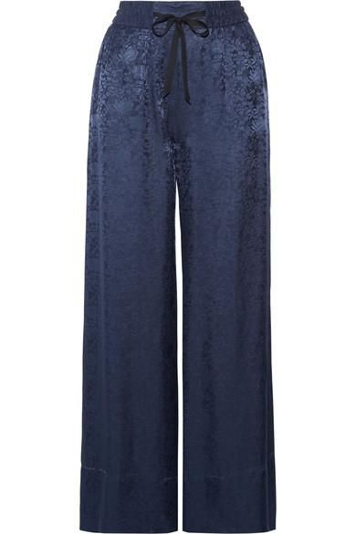 Whittier Satin-jacquard Wide-leg Pants