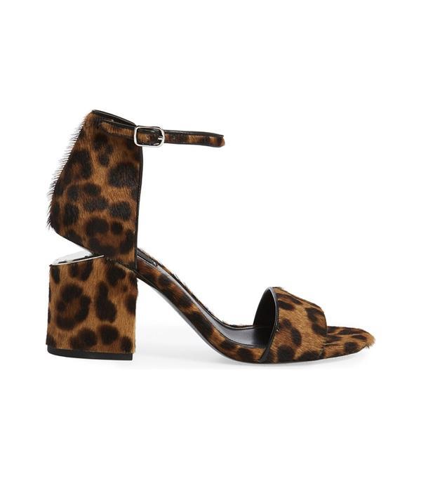 Abby Genuine Calf Hair Ankle Strap Sandal