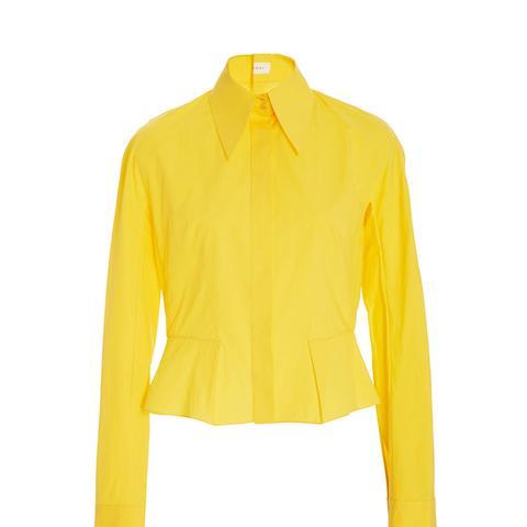 Peplum Button Down Shirt