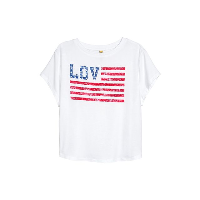 Short T-shirt with Motif
