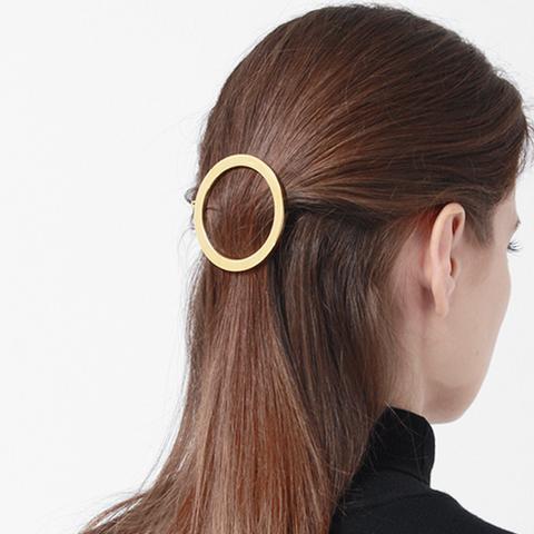 Circular Gold Barrette