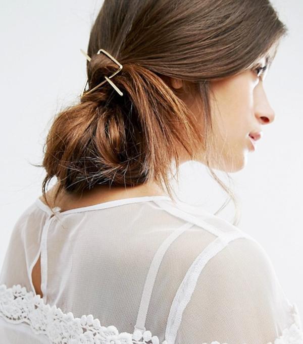 Star Triangle Through Hair Clip