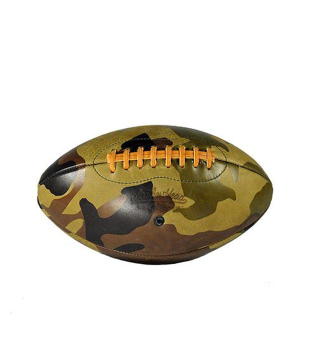 Leather Head Green Camo Leather Football