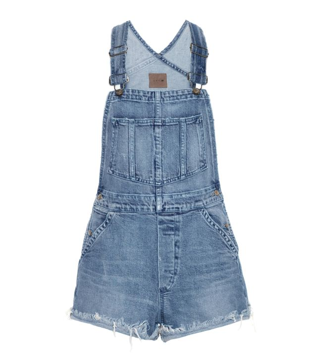 Taylor Hill x Joe's Jeans The Short Overalls